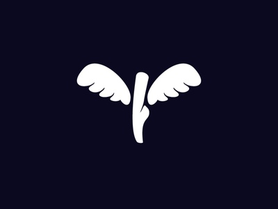 Winged Ballet Logo (for Sale) logos for sale buy sales sale logos logo fly movie dance foot winged wing ballet