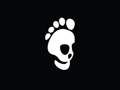 Foot Skull Logo logos for sale logotype buy logo for sale buy sales sale logos logo negative skulls skull footprint foot