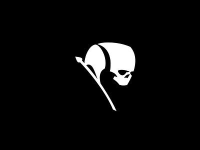 Skull Flag Logo (For Sale) fear horror pirates pirate for sale logotype buy sales sale logos logo flags flag skulls skull