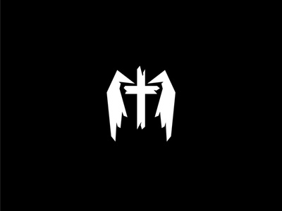 Winged Cross Logo holy christian church god logotype logos logo sales sale buy catholic religion hospital clinic medicine medical flying fly wing cross