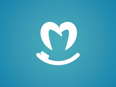 Tooth And Tooth Brush Smiling Logo