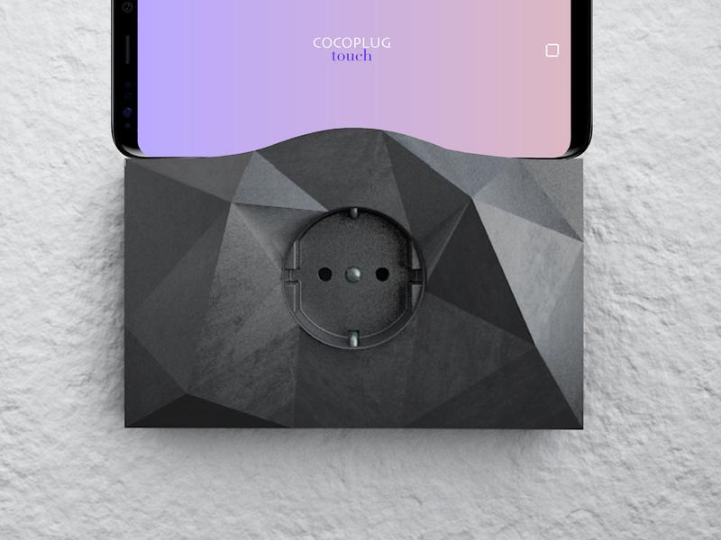 Cocoplug smart industrial c4d render texture socket product 3d 3d art design minimal clean
