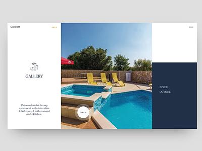 Villa Salzburg / Galley brush responsive simpe typo website grid prototype invision branding bold color apartment web typography sketch blue ux ui minimal clean design