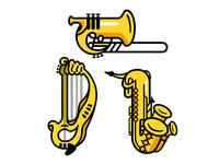 Combination Instruments Vector Illustration