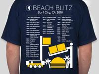 Beach Blitz T-shirt Design