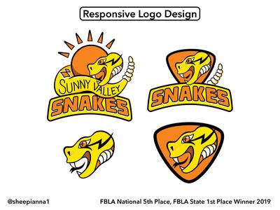 High School Responsive Logo Mascot Design