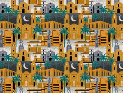El Socorro Pattern fun surface pattern design vector colorful patterns textile color pattern illustration