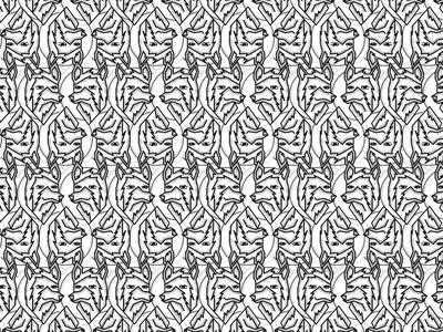 Wolf Logo pattern fun surface pattern design vector colorful patterns textile color pattern illustration