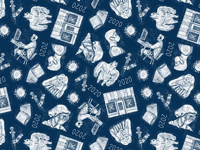 2020 Illustrated pattern fun surface pattern patterns colorful textile 2020design 2020 pattern illustration