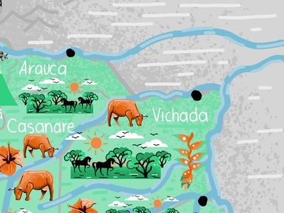 Colombia Illustrated map affinity affinitydesigner vector doodleart colombia illustration art mapstr illustrated map illustration maps