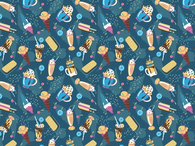 Milkshake and icecream pattern