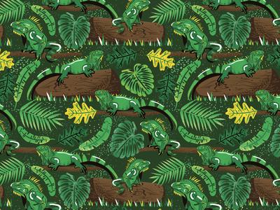 Green Iguana pattern