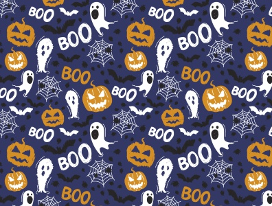 Happy Halloween halloween fun surface pattern design vector colorful patterns textile color pattern illustration