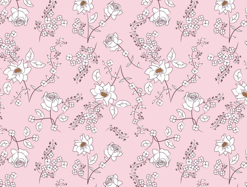 Outline Flower Pattern surface surface pattern design vector colorful patterns textile color pattern illustration