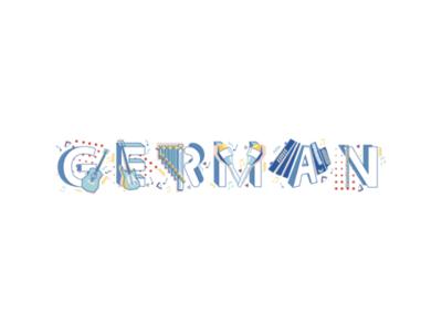 Musical German illustration fonts instruments musical