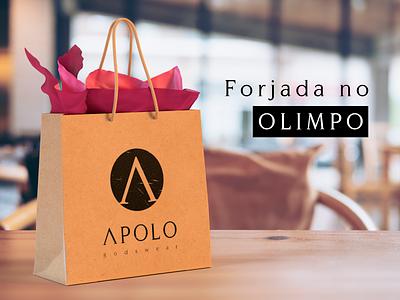 Aplicação de Marca   Apolo Godswear mark making logo marketing vector gift bag design branding brand