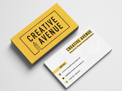 Business Card Design Creative Avenue By Laura Reilly Dribbble