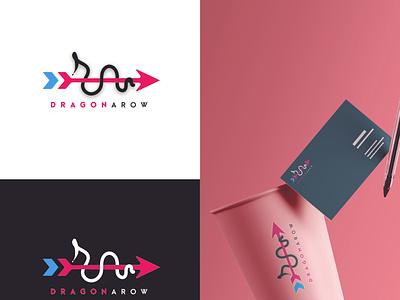 dragonaro logo Design flat app icon concept branding illustration design vector logo