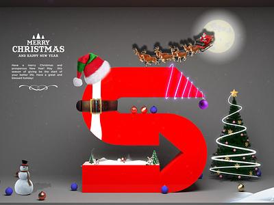 Merry Christmas Post Design christmas bangladesh branding illustration concept