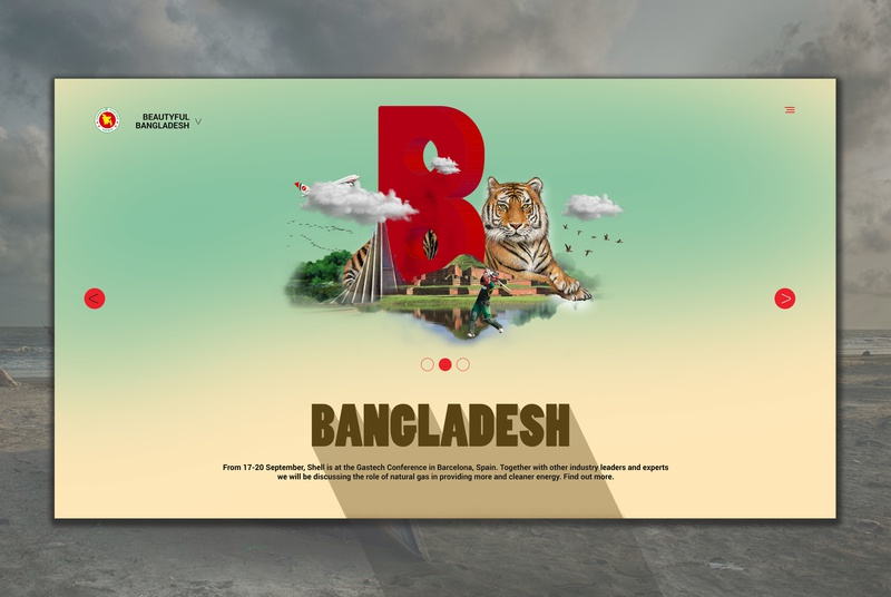 Web temp Beautiful Bangladesh by Creative_Hut on Dribbble