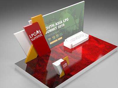 STAGE DESIGN LPG SUMMIT concept 3dsmax gas lpg summit stage design