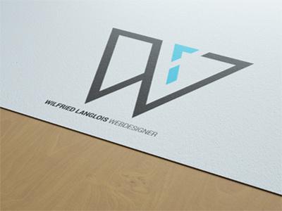 LOGO - WILFRIED LANGLOIS design graphic - logo