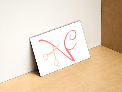 """Logo for """"Veronique Coiff'"""" , a home hairdresser design graphic - logo"""