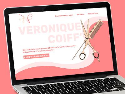Design for a home hairdressing website web design graphisme - webdesign