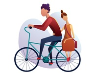 Two by bicycle