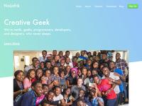 Creative Geek landing page