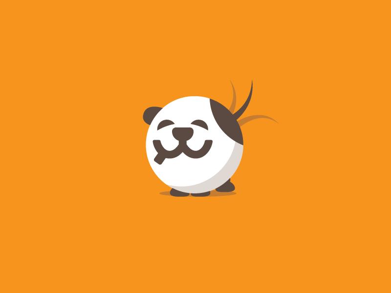 eWaggin vector dog logo flat