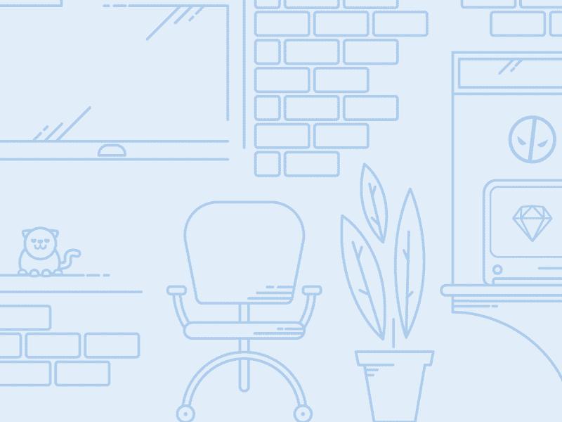 Simple line art flat design background illustrator easter egg vector backdrop background flat design