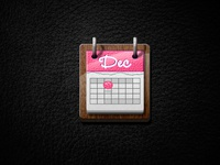 Calendar Icon Dribble Debut