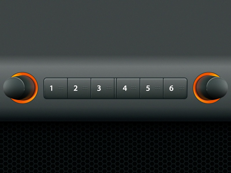 Radio Presets radio presets dials buttons illustrator pure vector