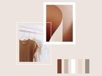 Neutral and feminine moodboard