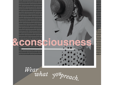 Conscious fashion editorial layout