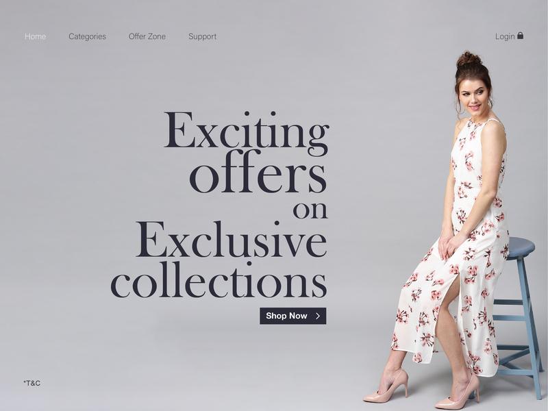 Landing page design for fashion website clothing brand typography branding web design adobe photoshop adobe illustrator luxury brand premium graphic design home page ui design website fashion brand landing page
