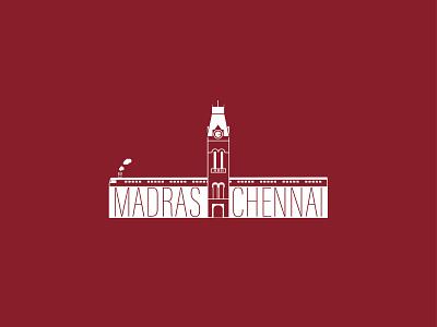 Chennai City illustrator chennai madras weekend dribbble rebound typography vector graphic design