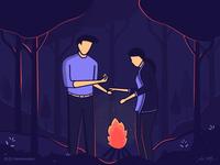 Campfire proposal 💕