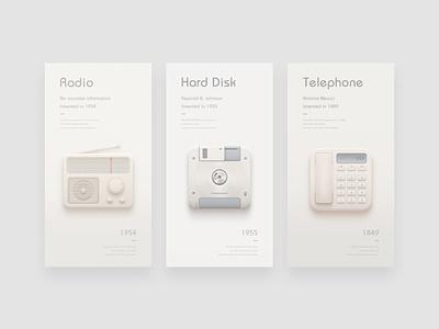 Icons radio disk telephone ui photoshop icon design
