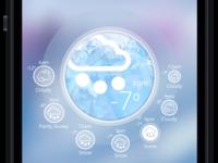 Weather App Design Concept - Snowy Weather