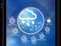 Weather App Design Concept - Rainy Weather