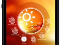 Weather App Design Concept - Sunny Weather