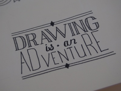 Drawing is an Adventure