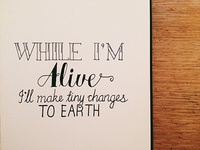 While I'm Alive