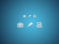 Work・About・Contact [FREE PSD OF ICONS ZOMG FREE PSD]