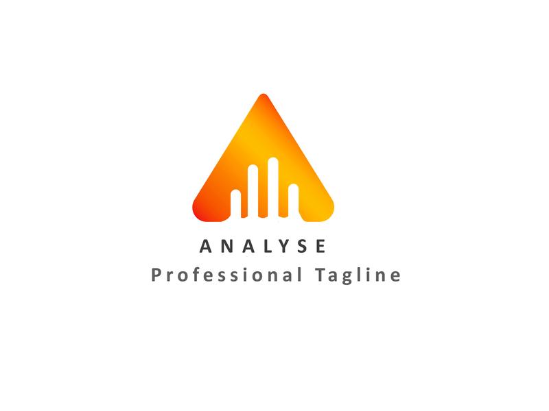 Analyse Logo Design lettering icon branding flat vector illustration design logo
