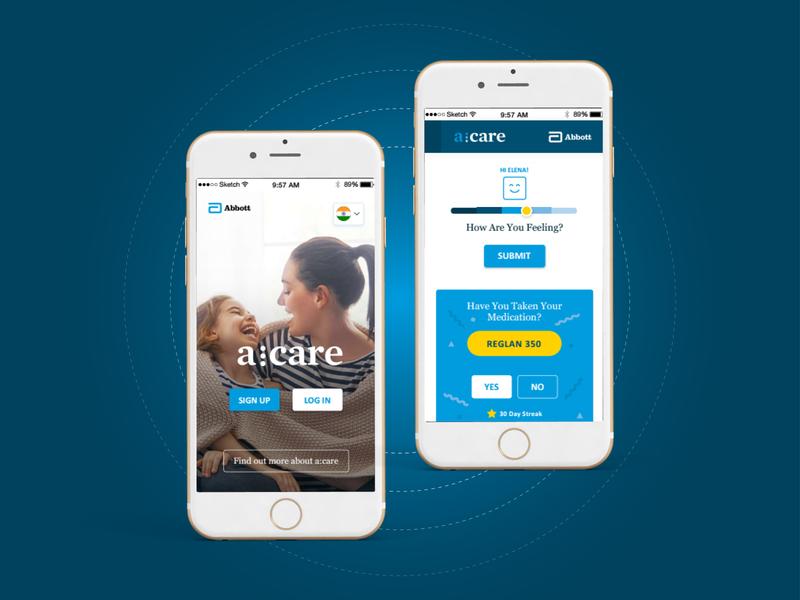 Acare - Medication App app design ui