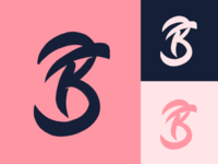 BF - Monogram logo sketch for personal training fitness company