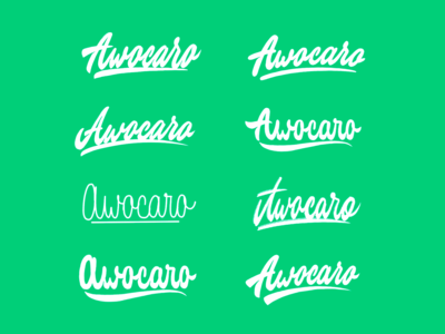 Awocaro - Lettering Logo Sketches for car rent website